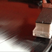 Closeup cartridge vinyl