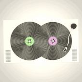 Endless animated vinyls loop