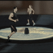 Jogging on a spinning vinyl