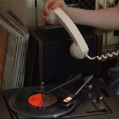Playing a record in the telephone