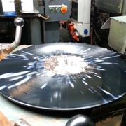 Splatter Color Vinyl Process